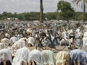 Friday Worshippers at the Mosque in Kano by Robert Sisson