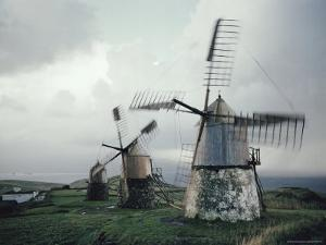 View of Windmills on Faial by Robert Sisson