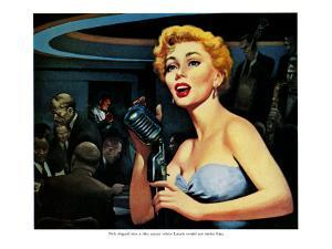 """Honky-Tonk Hero - Saturday Evening Post """"Leading Ladies"""", December 31, 1955 pg.20 by Robert Stanley"""