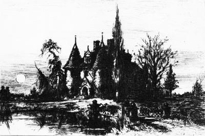 The House of Usher, Illustration from 'The Works of Edgar Allan Poe', 1884