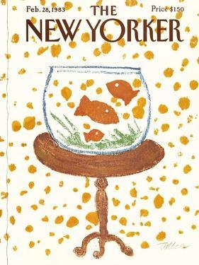 The New Yorker Cover - February 28, 1983 by Robert Tallon