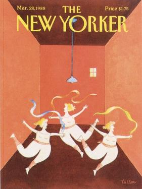 The New Yorker Cover - March 28, 1988 by Robert Tallon