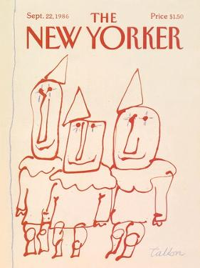 The New Yorker Cover - September 22, 1986 by Robert Tallon