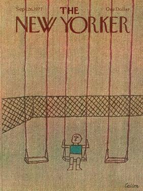 The New Yorker Cover - September 26, 1977 by Robert Tallon