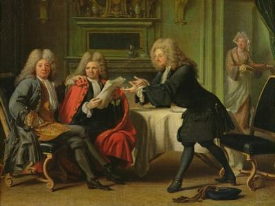 Bodin, the King's Doctor, in the Company of Dufresny and Crebillon at the House in Auteuil
