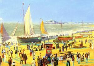 Ghosts on Brighton Beach by Robert Tyndall