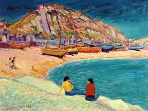 Hastings: Beach Scene by Robert Tyndall