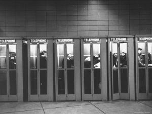 Busy Telephone Booths During an Airline Strike by Robert W. Kelley