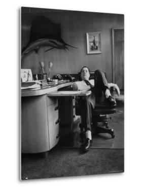 James R. Hoffa Slumped in Chair Teamsters Office by Robert W. Kelley