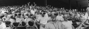 Newsboys Wearing Super Specs Watching Baseball Game by Robert W. Kelley