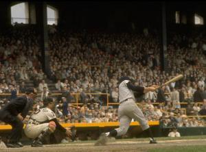 NY Yankees Right Fielder Roger Maris Against Detroit Tigers During Record Breaking 61 Homer Season by Robert W. Kelley