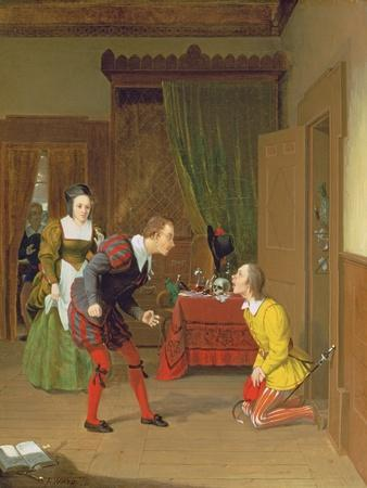 Dr Caius, Simple and Dame Quickly, Scene from the Merry Wives of Windsor, 1830