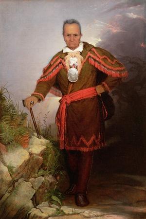 Portrait of Sa-Go-Ye-Wat-Hg or Red Jacket, C.1828