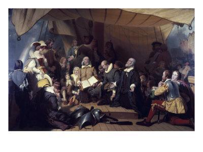 The Embarcation of the Pilgrims