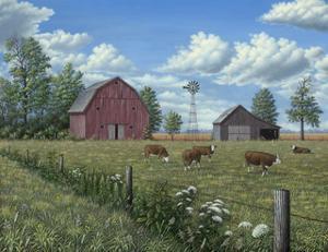 Grazing Cattle by Robert Wavra