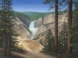 Lower Falls - Yellowstone by Robert Wavra