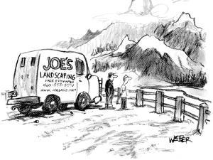 """""""I would have done this differently."""" - New Yorker Cartoon by Robert Weber"""