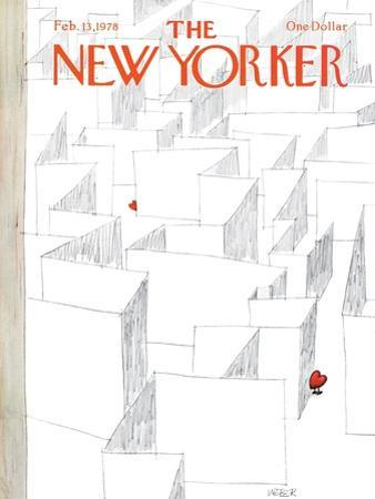 The New Yorker Cover - February 13, 1978 by Robert Weber
