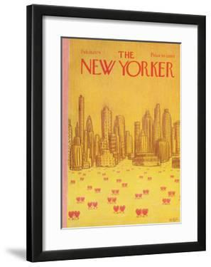 The New Yorker Cover - February 18, 1974 by Robert Weber