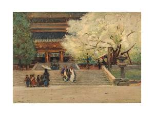'Temple at Nikko, Japan', c1908 by Robert Weir Allan