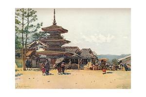 'Yasaka Pagoda, Kyoto, Japan', c1909 by Robert Weir Allan