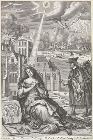Britannia weeps for the state of the country, 1682