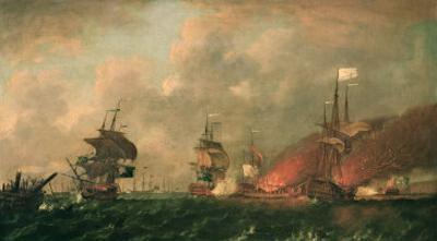 Lord Howe and the Comte d'Estaing Off Rhode Island, 9th August 1778