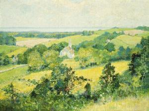 New England Hills, 1901 by Robert William Vonnoh