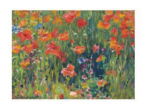 Poppies, 1888 by Robert William Vonnoh