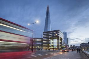 Uk, London a View of the Shard from London Bridge by Roberto Cattini