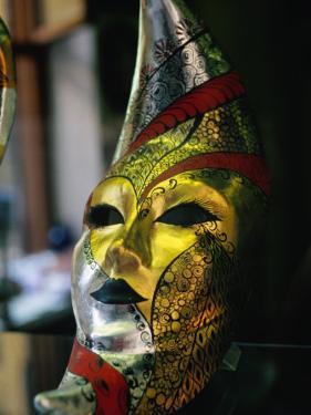 Carnival Mask, Venice, Veneto, Italy by Roberto Gerometta