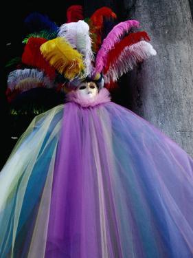 Carnivale Costume in St. Mark's Square, Venice, Veneto, Italy by Roberto Gerometta