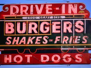 Drive-In Neon Sign, San Francisco, California by Roberto Gerometta