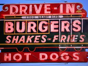 Drive-In Neon Sign, San Francisco, California by Roberto Gerometta