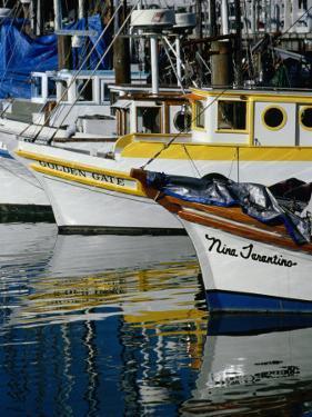 Fishing Boats at Fishermans Wharf, San Francisco, California, USA by Roberto Gerometta
