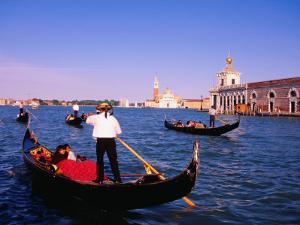 Gondolas in Grand Canal Near St. Mark's, Venice, Veneto, Italy by Roberto Gerometta