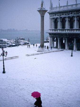 Piazetta of San Marco in Winter, Venice, Veneto, Italy