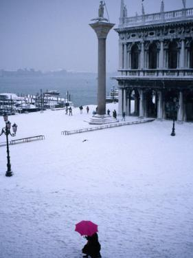 Piazetta of San Marco in Winter, Venice, Veneto, Italy by Roberto Gerometta