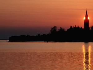 Sunset Over Poveglia Island and the Lagoon, Venice, Veneto, Italy by Roberto Gerometta