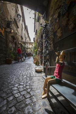 A Typical Alley with Local Craft Shops, Orvieto, Terni Province, Umbria, Italy, Europe by Roberto Moiola