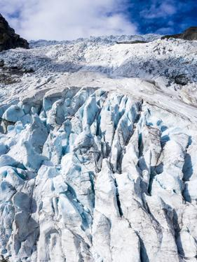 Aerial by drone of ice blocks of Boyabreen Glacier, Jostedalsbreen National Park by Roberto Moiola