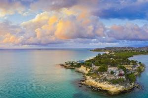 Aerial panoramic by drone of Fort James, St. John's, Antigua, Leeward Islands by Roberto Moiola