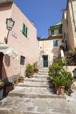 Ancient alley, Porto Azzurro, Elba Island, Livorno Province, Tuscany, Italy, Europe by Roberto Moiola