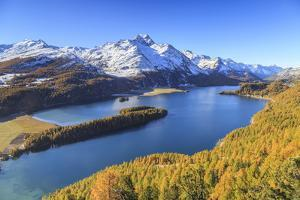 Autumn Approaching at Lake Sils Near St.Moritz in Engadine by Roberto Moiola