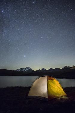 Camping under the Stars on Rosset Lake at an Altitude of 2709 Meters by Roberto Moiola