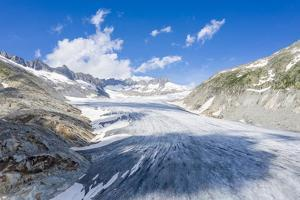 Ice tongue of Rhone Glacier in summer, Gletsch, Canton of Valais, Switzerland by Roberto Moiola