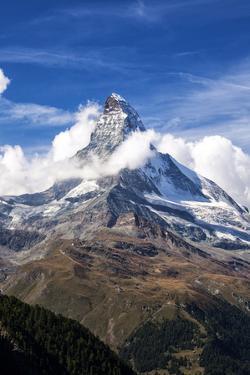 Matterhorn Surrounded by Clouds, Zermatt, Canton of Valais, Pennine Alps, Swiss Alps, Switzerland by Roberto Moiola