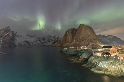 Northern Lights (Aurora borealis), Hamnoy, Lofoten Islands, Nordland, Norway by Roberto Moiola