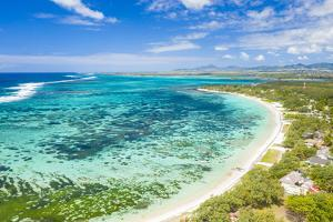 Public Beach by the turquoise Indian Ocean, Poste Lafayette, East coast, Mauritius by Roberto Moiola