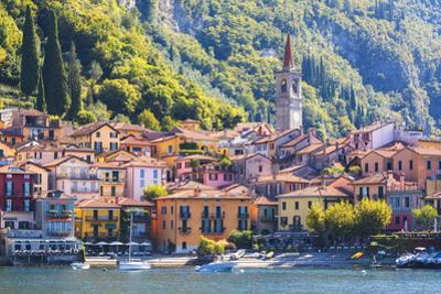 The iconic village of Varenna on the shore of Lake Como, Lecco province, Lombardy, Italy by Roberto Moiola